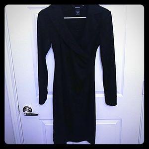 Express long sleeve black dress